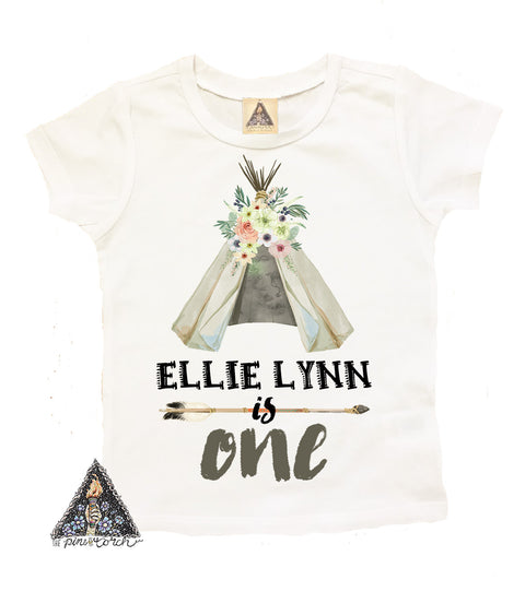 « BIRTHDAY TEEPEE» CUSTOMIZED KID'S TEE