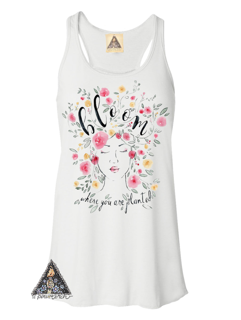 « BLOOM WHERE YOU ARE PLANTED » WOMEN'S TANK