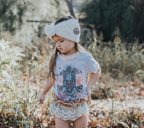 SPECIAL EDITION « BOHEMIAN DREAMS BOX » BLOOMERS, HAMSA TEE, HAMSA TOPKNOT