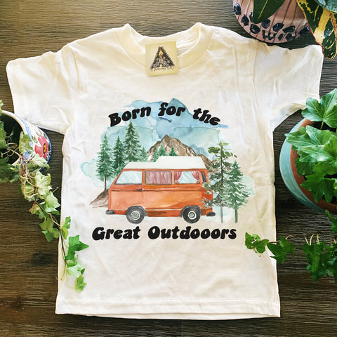 « BORN FOR THE GREAT OUTDOORS » KIDS TEE