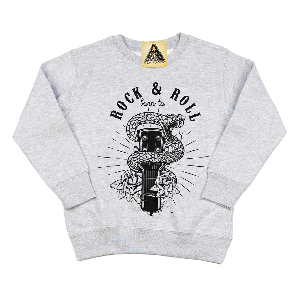 « BORN TO ROCK AND ROLL » KID'S PULLOVER