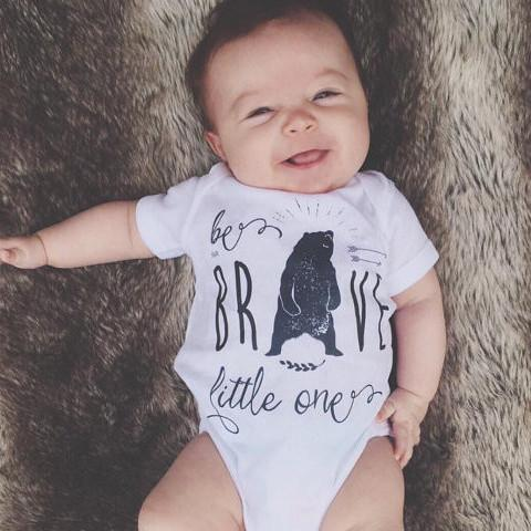 « BE BRAVE LITTLE ONE » BODYSUIT