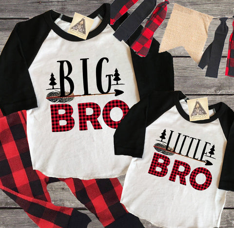 « BIG BROTHER + LITTLE BROTHER BUFFALO PLAID » KID'S TEE SIBLING SET