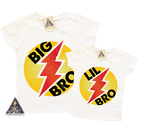 « BIG BRO + LIL BRO SUPERHERO » KID'S TEE SIBLING SET
