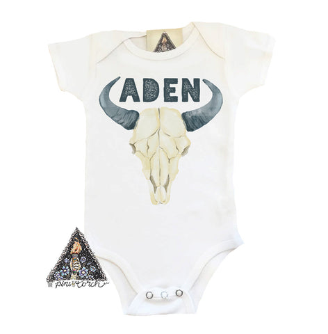 « CUSTOM BOHO GYPSY SKULL - BOY » BODYSUIT