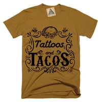 « TATTOOS AND TACOS » CAMEL UNISEX TEE