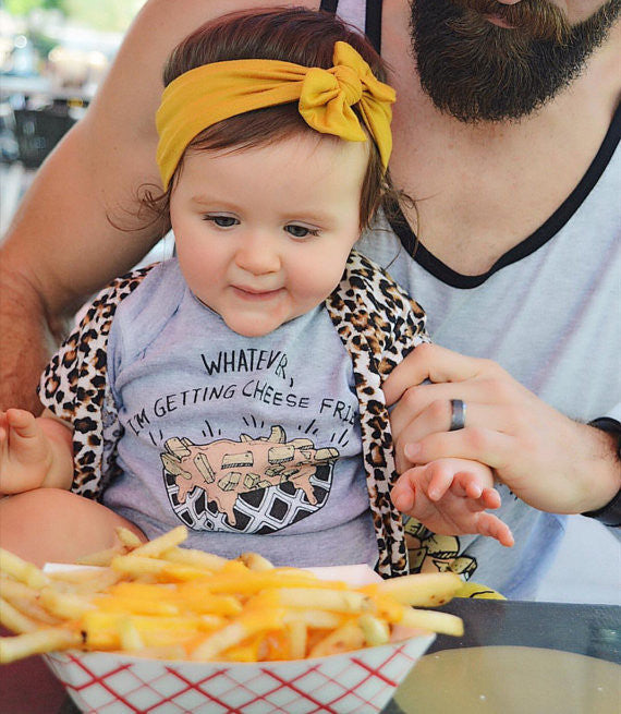 « WHATEVER, I'M GETTING CHEESE FRIES » MOMMY & ME // Gray Slouchy Tank + Kids Tee