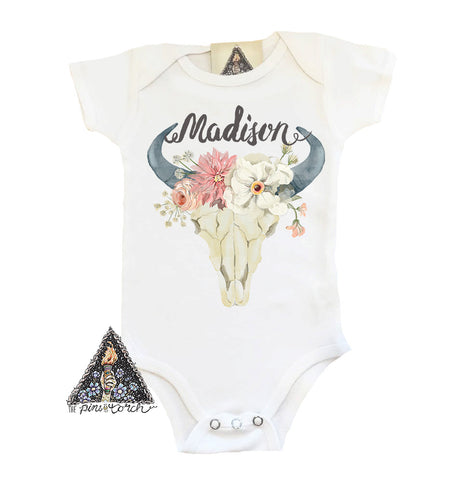 « CUSTOM BOHO GYPSY SKULL » CUSTOMIZED BODYSUIT