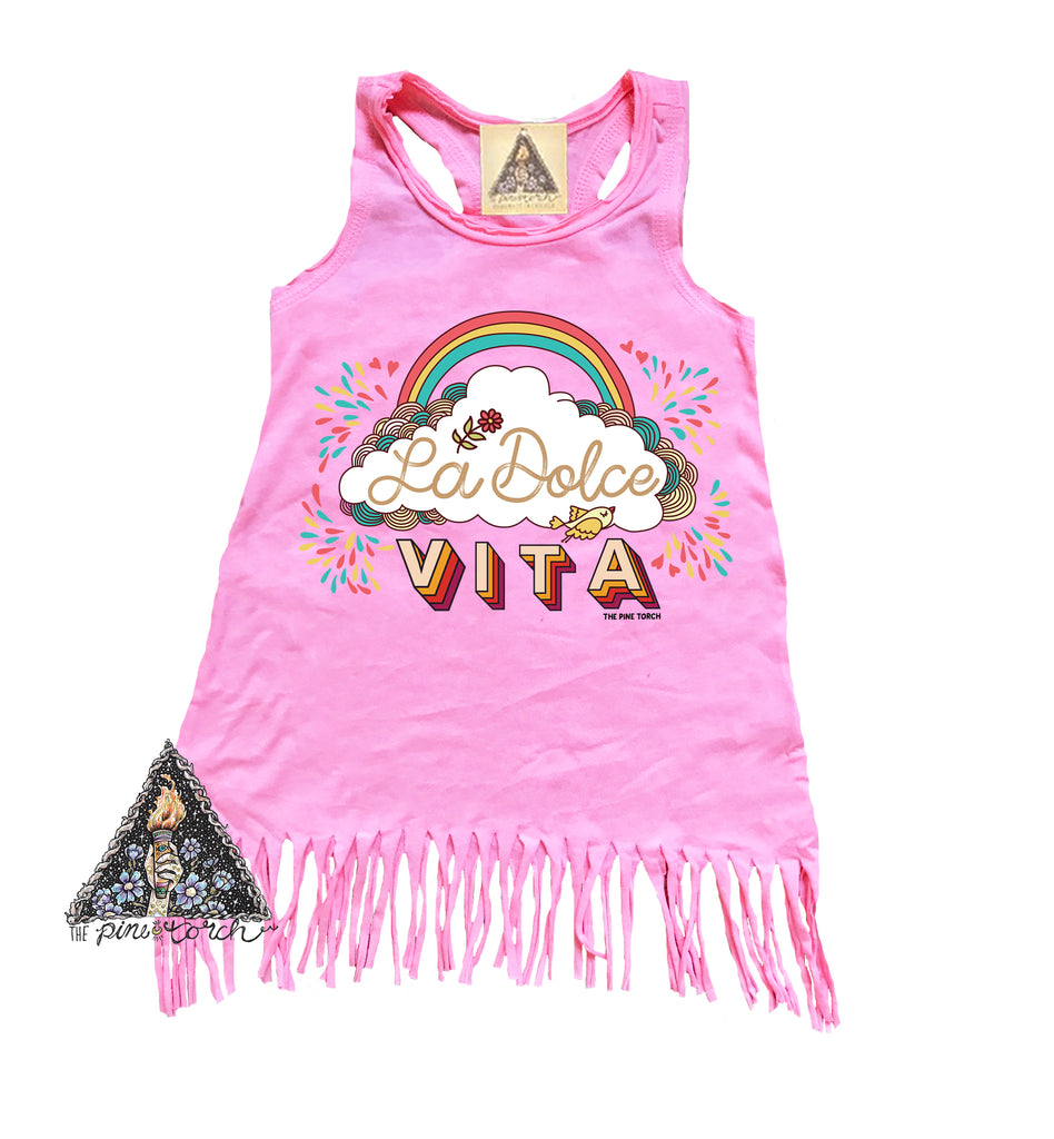 « LA DOLCE VITA » KIDS FRINGE DRESS