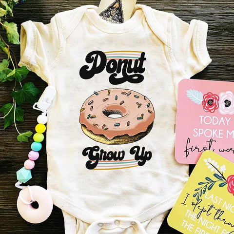 « DONUT GROW UP » BODYSUIT