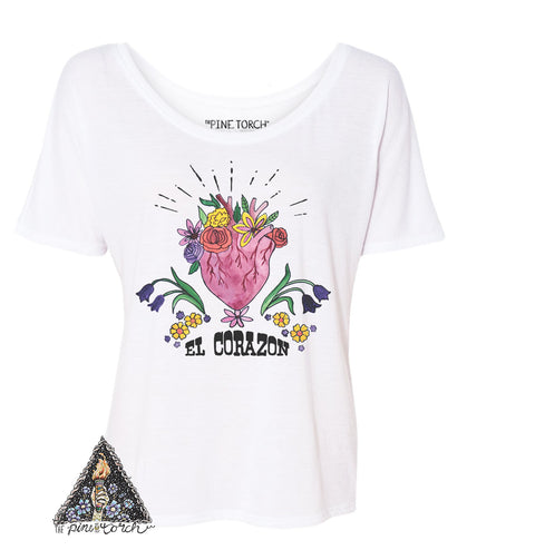 « EL CORAZON » WOMEN'S SLOUCHY OR UNISEX TEE