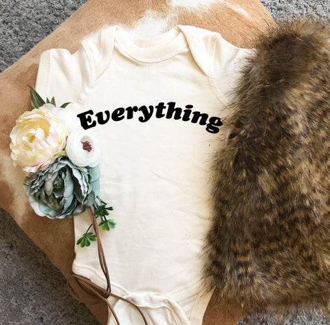 « EVERYTHING » CREAM, GRAY or BLACK BODYSUIT