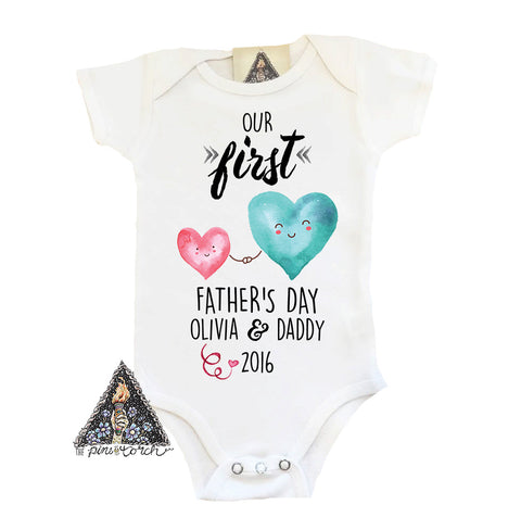 « FATHER'S DAY WITH HEARTS » CUSTOMIZED BODYSUIT