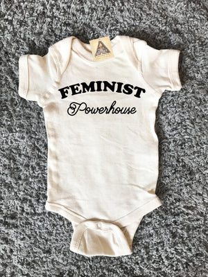 « FEMINIST POWERHOUSE » CREAM BODYSUIT