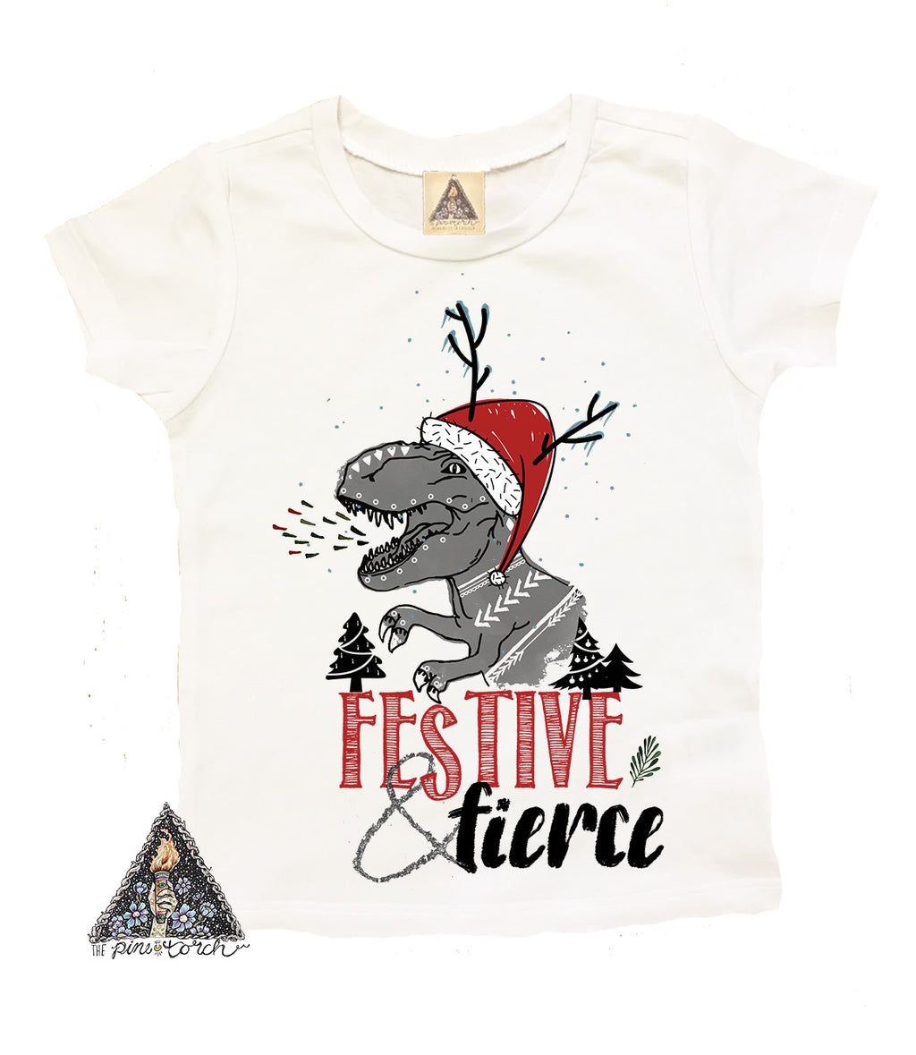 « FESTIVE AND FIERCE » KID'S TEE