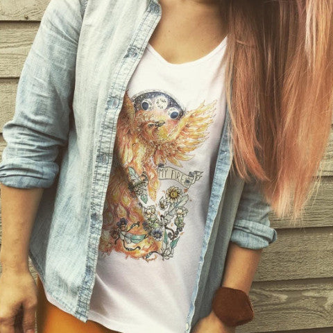 « LIGHT MY FIRE-BIRD » WOMEN'S TANK