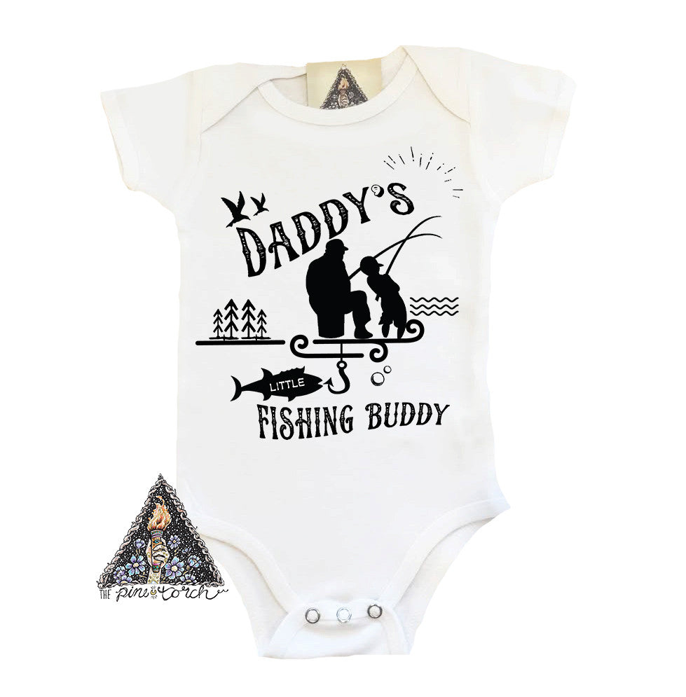 « DADDY'S/GRANDPA'S LITTLE FISHING BUDDY » BODYSUIT