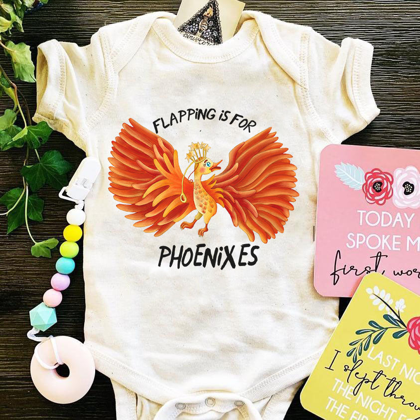 « FLAPPING IS FOR PHOENIXES » BODYSUIT