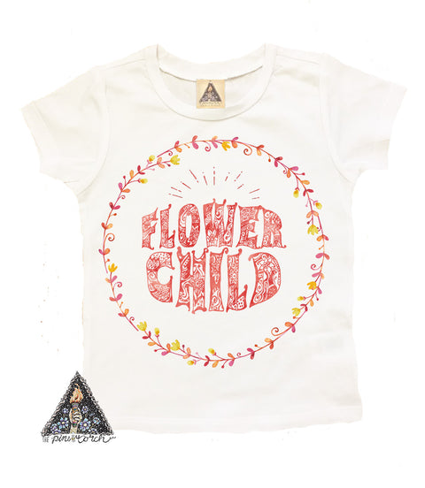 « FLOWER CHILD » YOUTH TEE