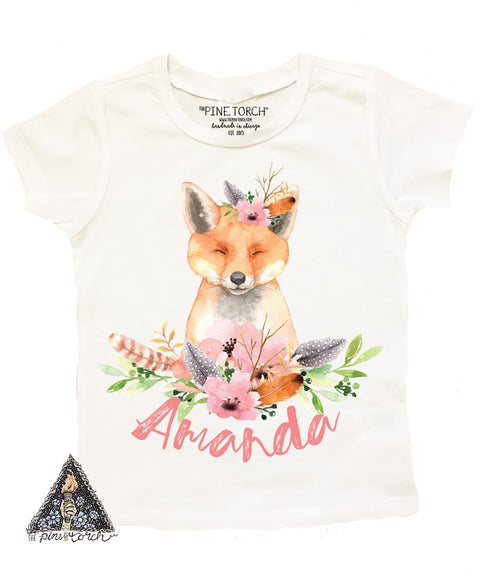 « WOODLAND FOX BIRTHDAY » KID'S TEE