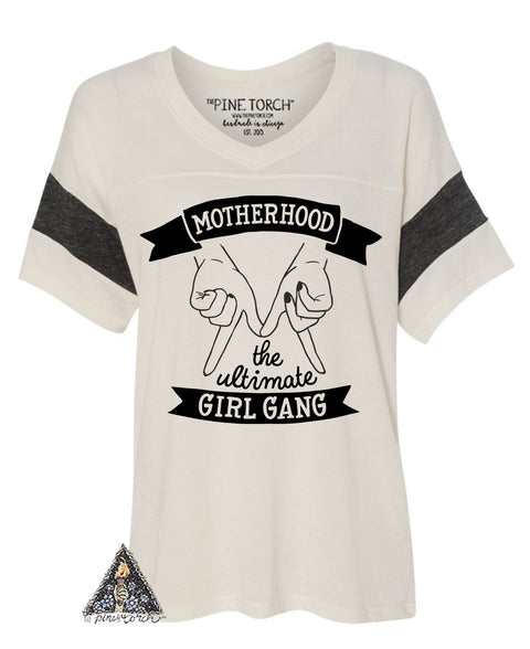 « MOTHERHOOD: THE ULTIMATE GIRL GANG » RINGER TEE
