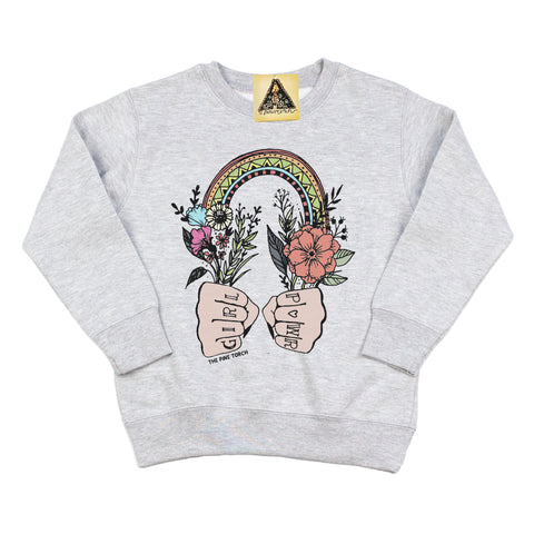 « GIRL POWER » KID'S PULLOVER