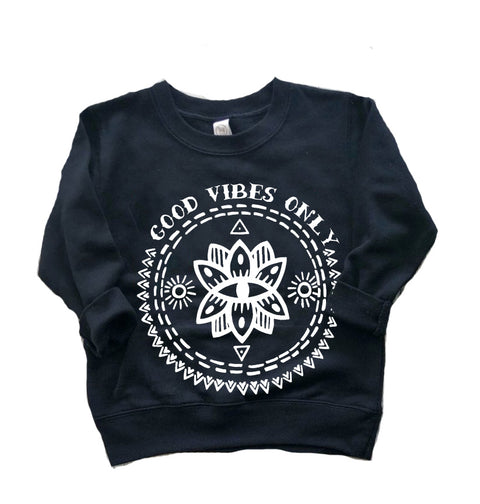 « GOOD VIBES ONLY » KID'S PULLOVER