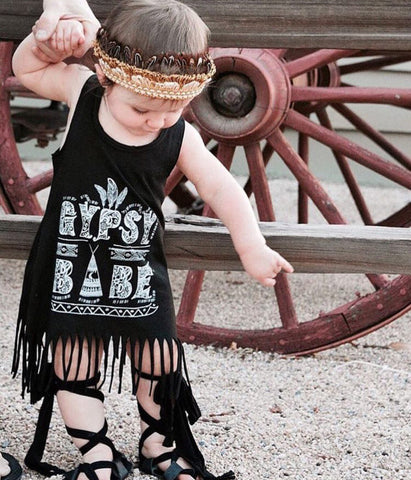 « GYPSY BABE » KID'S FRINGE DRESS