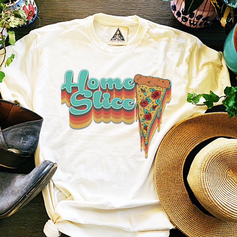 « HOME SLICE » CREAM UNISEX TEE