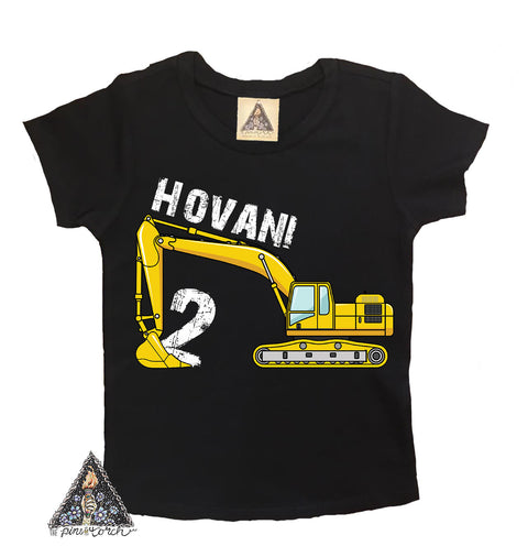 « CONSTRUCTION/EXCAVATOR » KID'S CUSTOM BIRTHDAY TEE