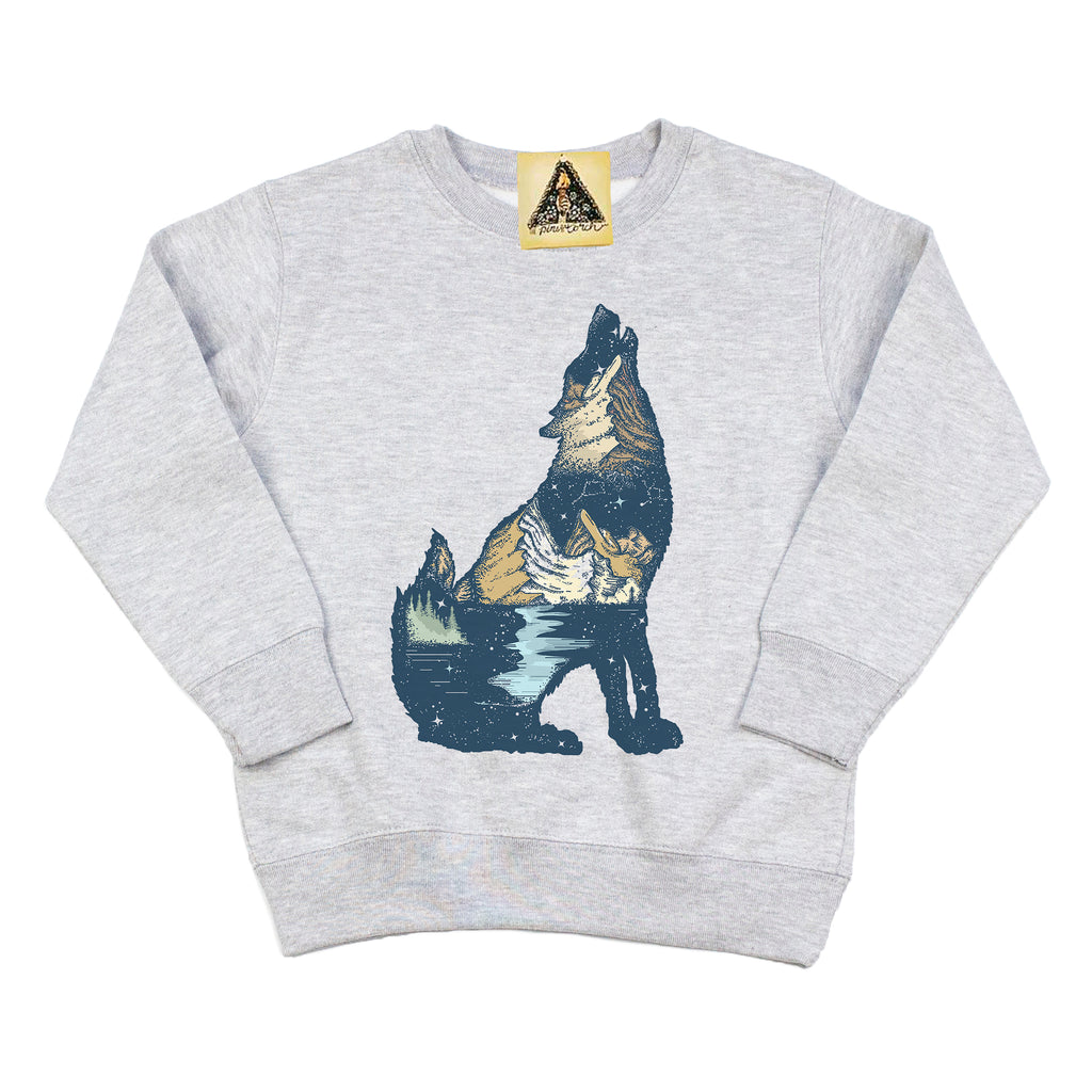 « HOWLING WOLF » KID'S PULLOVER