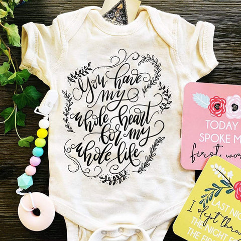 « YOU HAVE MY WHOLE HEART FOR MY WHOLE LIFE » CREAM BODYSUIT