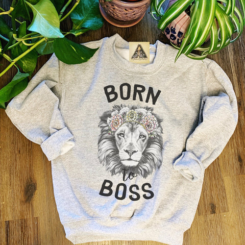 « BORN TO BOSS » KID'S PULLOVER