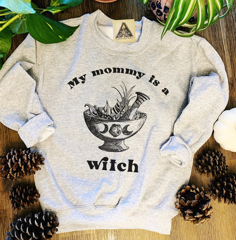« MY MOMMY IS A WITCH » KID'S PULLOVER