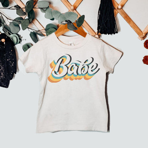 « RETRO BABE » KID'S TEE