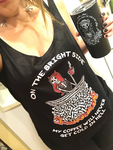« COFFEE IN HELL » WOMEN'S SLOUCHY TANK