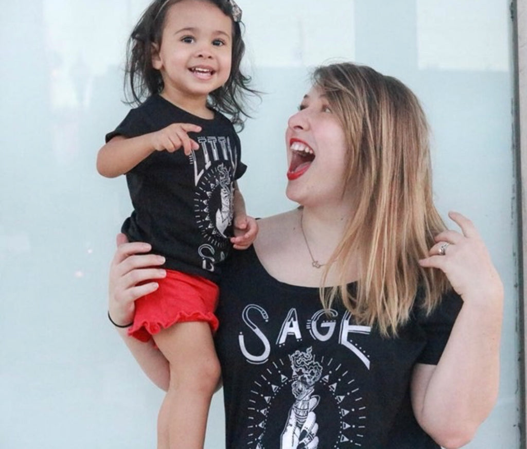 « SAGE MAMA & LITTLE SAGE » MOMMY & ME // Slouchy Tee + Tee