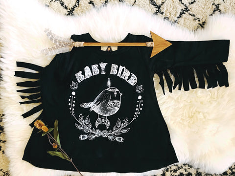 « BABY BIRD » FRINGE TUNIC