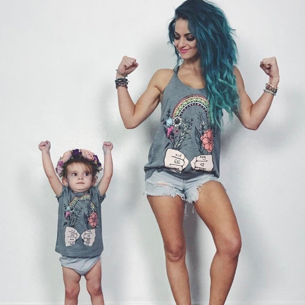 « GIRL POWER » MOMMY & ME // Slouchy Tank + Kids Tee