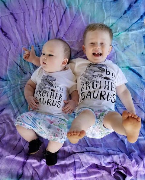« BIG BROTHER SAURUS + LITTLE BROTHER SAURUS » KID'S TEE SIBLING SET