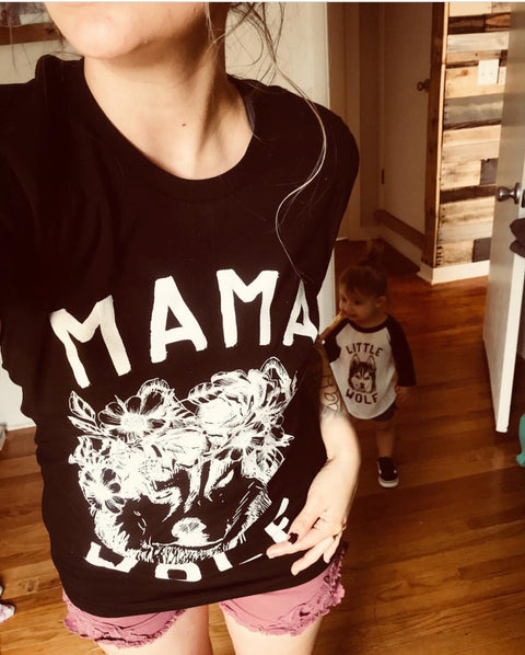 « MAMA WOLF » SLOUCHY OR UNISEX TEE
