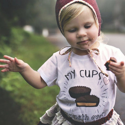 « MY CUPS RUNNETH OVER » KID'S TEE