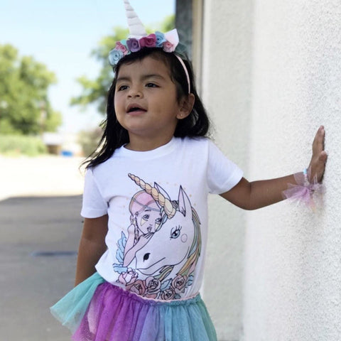 « UNICORN GIRL » KID'S TEE