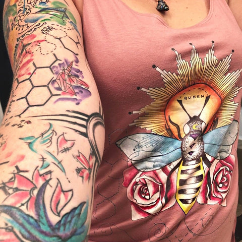 « QUEEN BEE » WOMEN'S SLOUCHY TANK