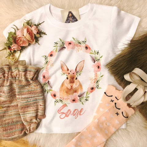 « CUSTOM BUNNY BIRTHDAY » KID'S TEE