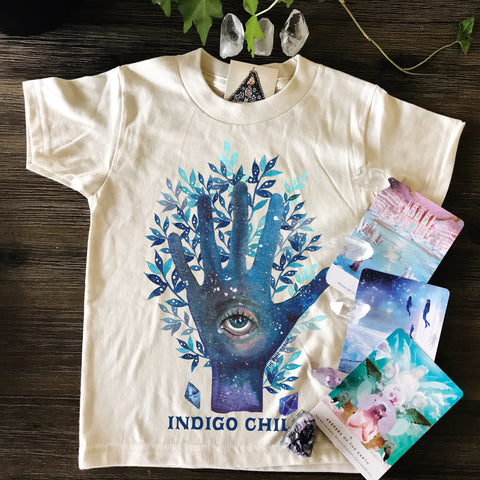 « INDIGO CHILD » CREAM ORGANIC KIDS TEE
