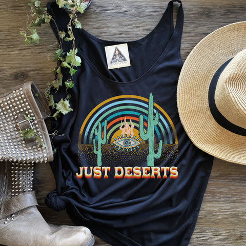 « JUST DESERTS » WOMEN'S SLOUCHY TANK