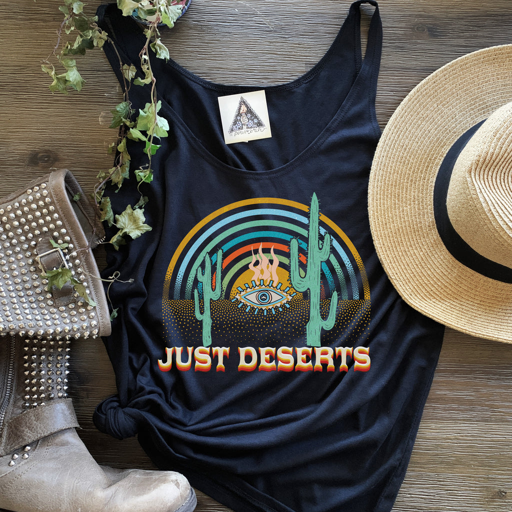 « JUST DESERTS » BLACK KID'S TEE