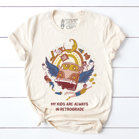 « MY KIDS ARE ALWAYS IN RETROGRADE » UNISEX  TEE