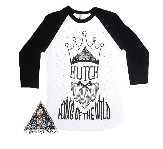 « BIRTHDAY KING OF THE WILD » CUSTOMIZED RAGLAN TEE